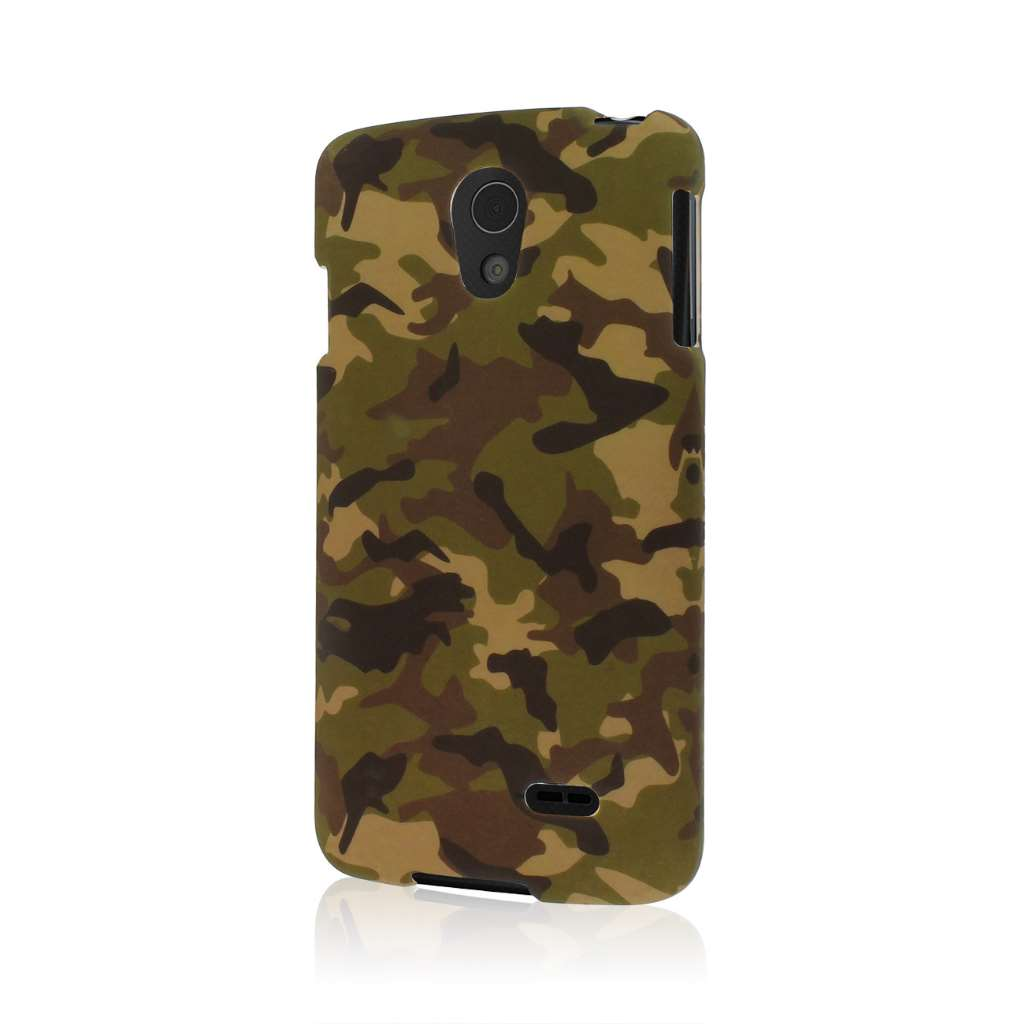 LG Lucid 3 - Green Camo MPERO SNAPZ - Case Cover