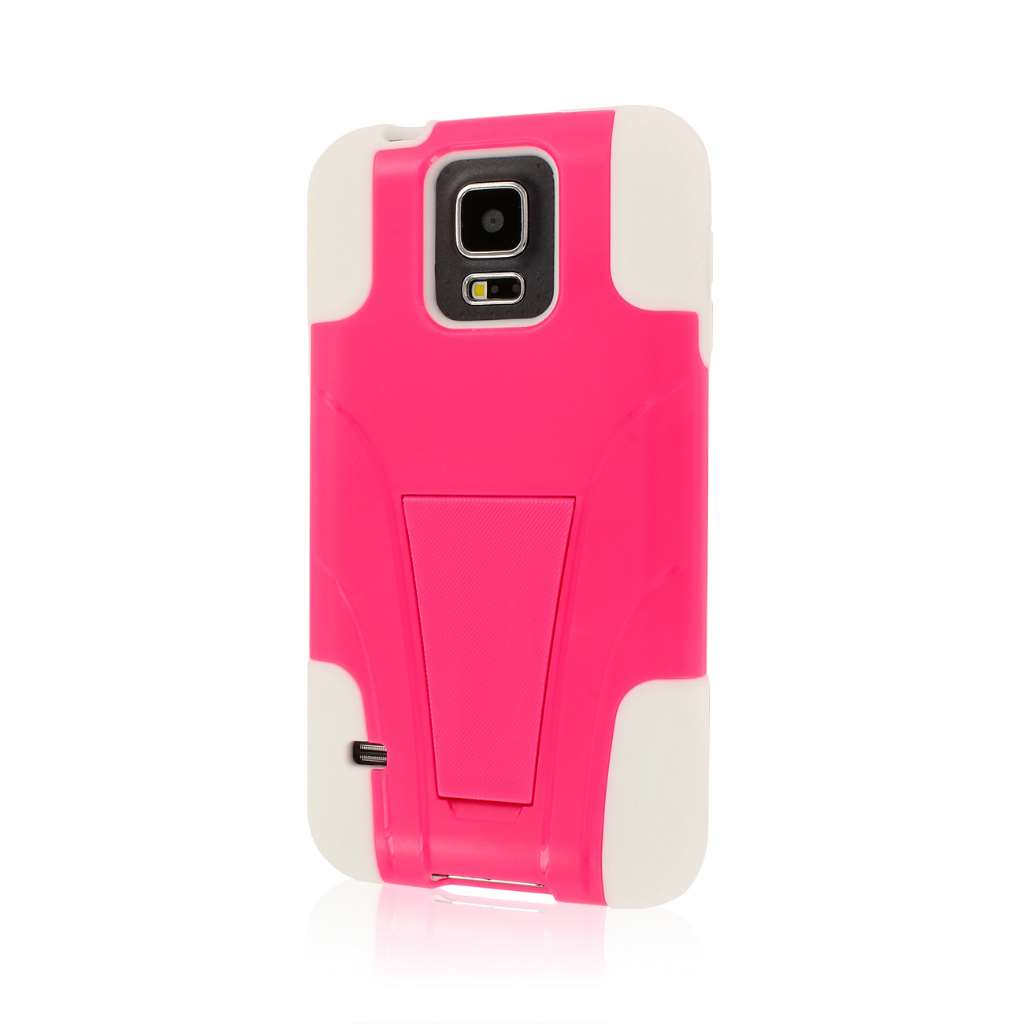 Samsung Galaxy S5 - Hot Pink MPERO IMPACT X - Kickstand Case Cover