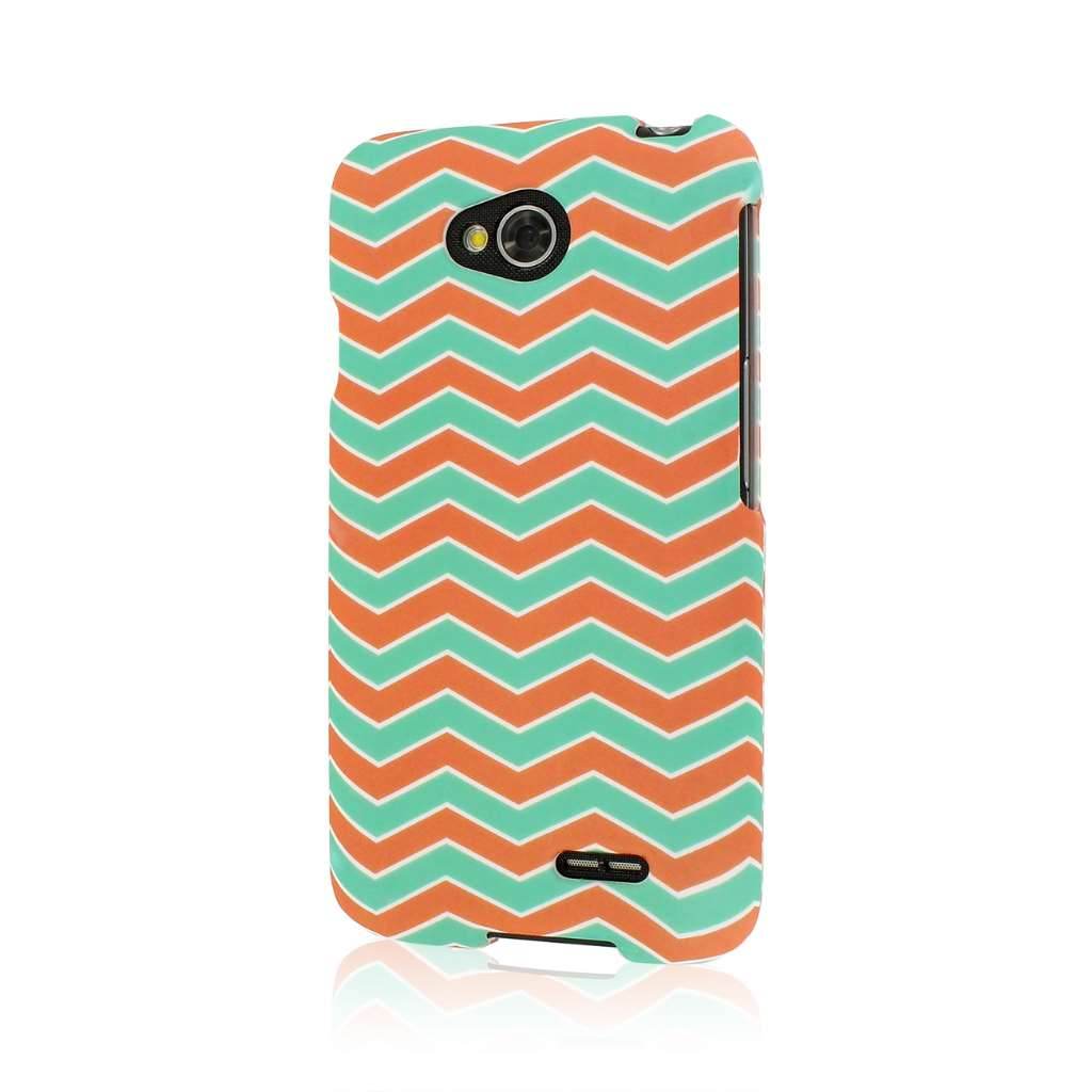 LG Optimus L70 - Mint Chevron MPERO SNAPZ - Case Cover
