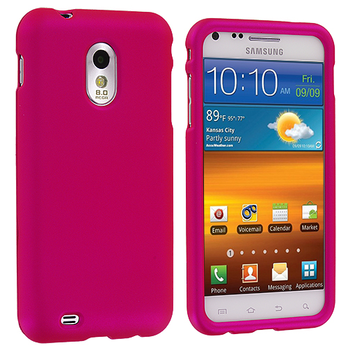 Samsung Epic Touch 4G D710 Sprint Galaxy S2 Hot Pink Hard Rubberized Case Cover