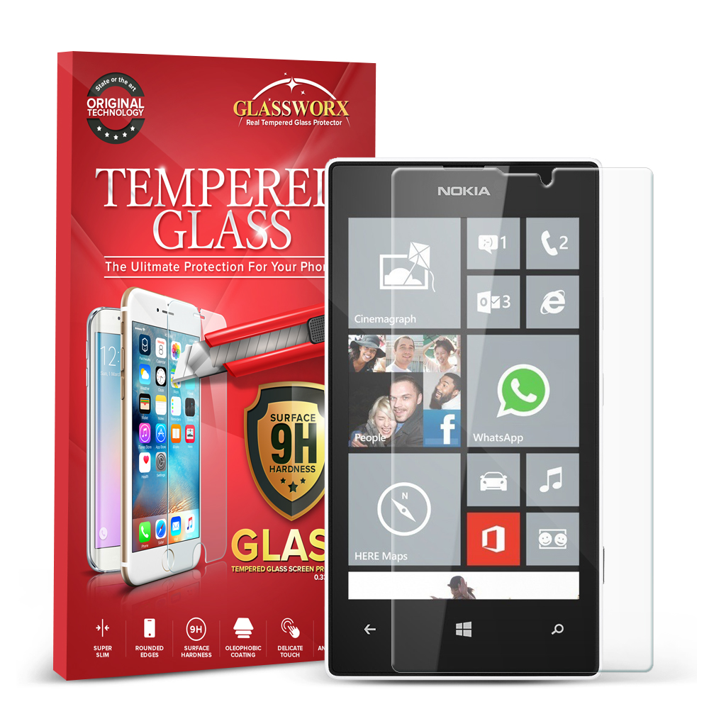 Nokia Lumia 521 GlassWorX HD Clear Tempered Glass Screen Protector