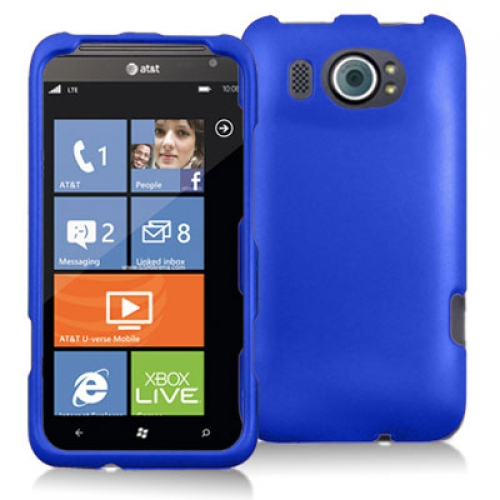 HTC Titan II 2 Blue Hard Rubberized Case Cover