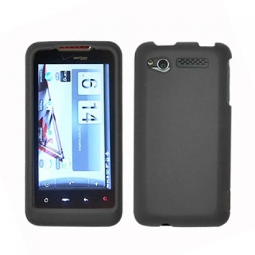 HTC Merge Black Hard Rubberized Case Cover