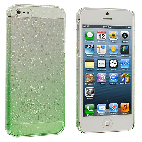 Apple iPhone 5/5S/SE Neon Green Crystal Raindrop Hard Case Cover