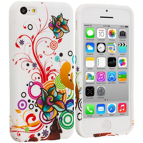 Apple iPhone 5C Autumn Flower TPU Design Soft Case Cover