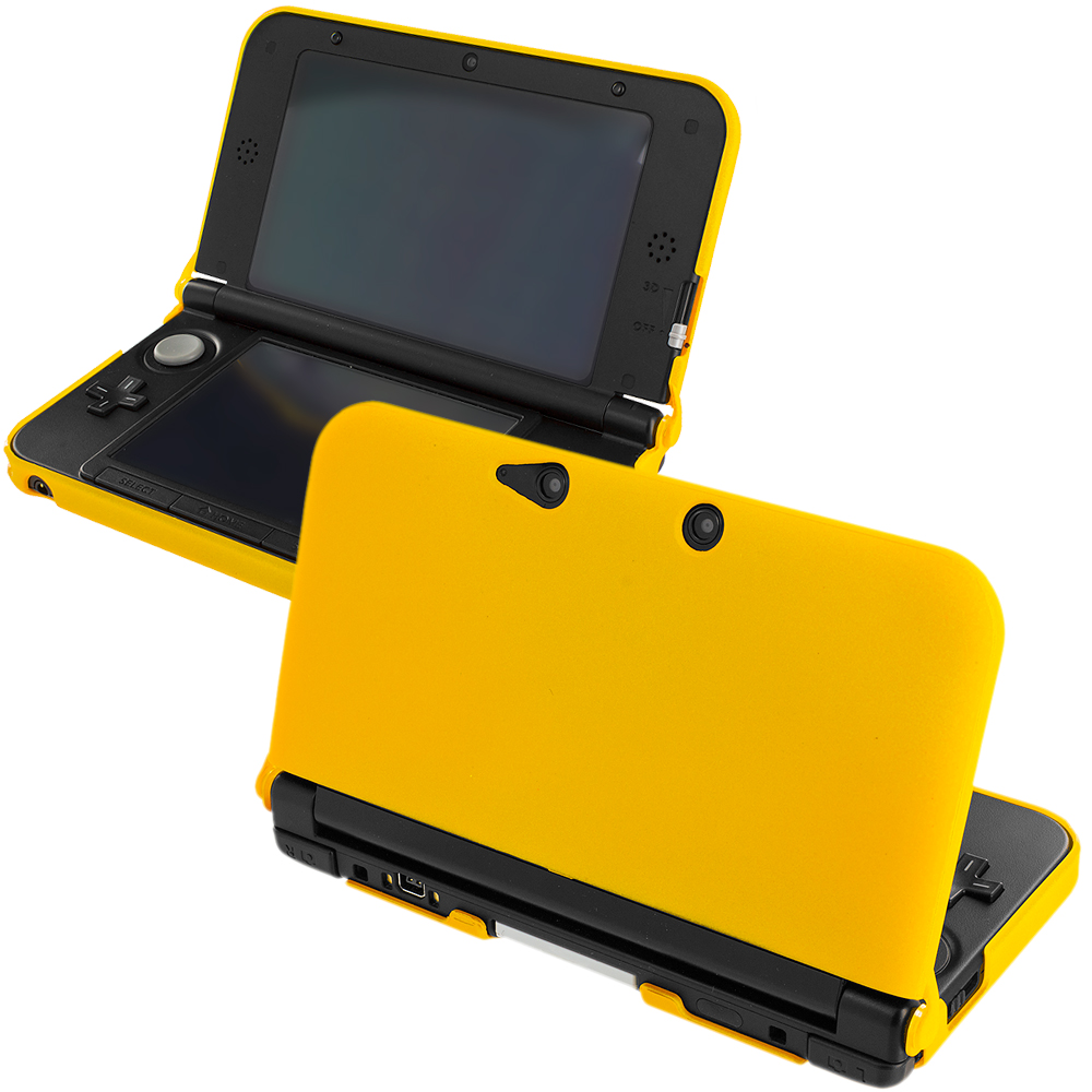 Nintendo 3DS XL Yellow Hard Rubberized Case Cover