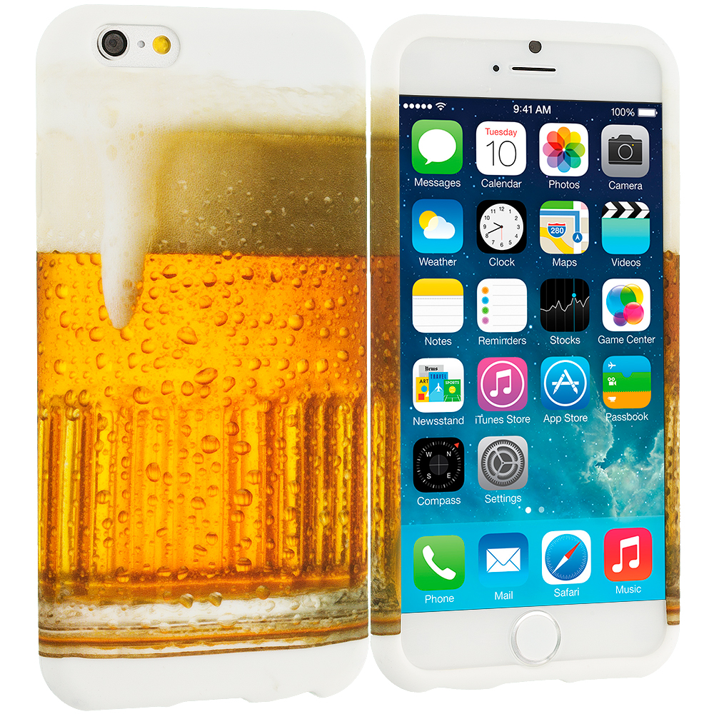 Apple iPhone 6 Plus 6S Plus (5.5) Beer TPU Design Soft Rubber Case Cover