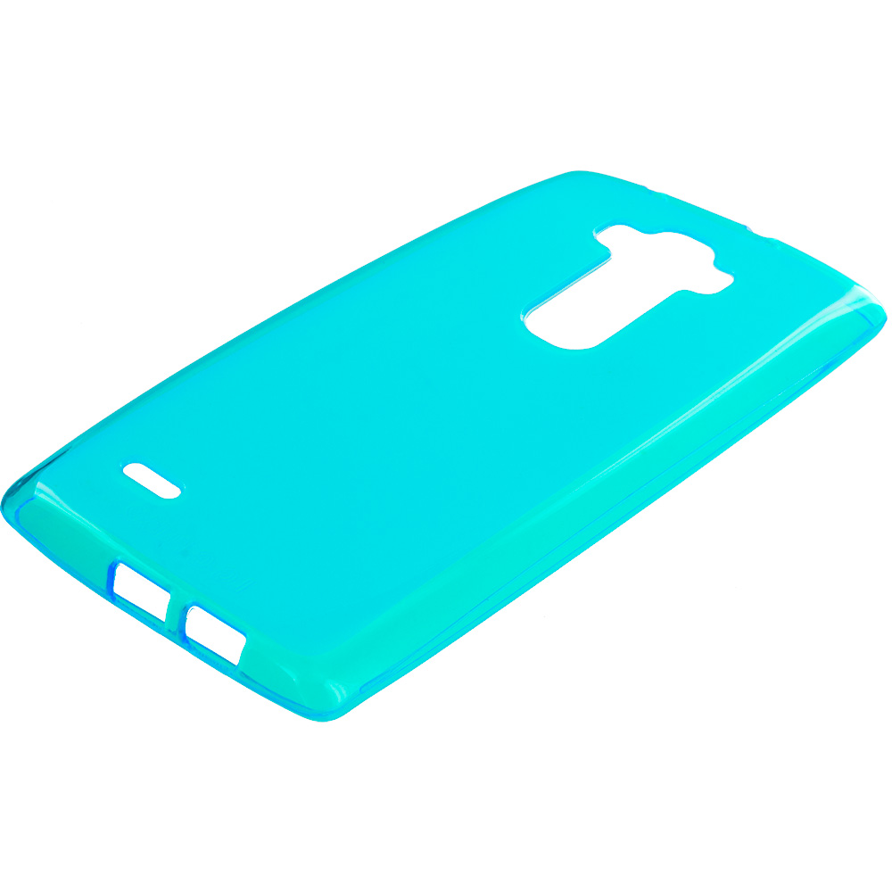 LG G Flex 2 Baby Blue TPU Rubber Skin Case Cover