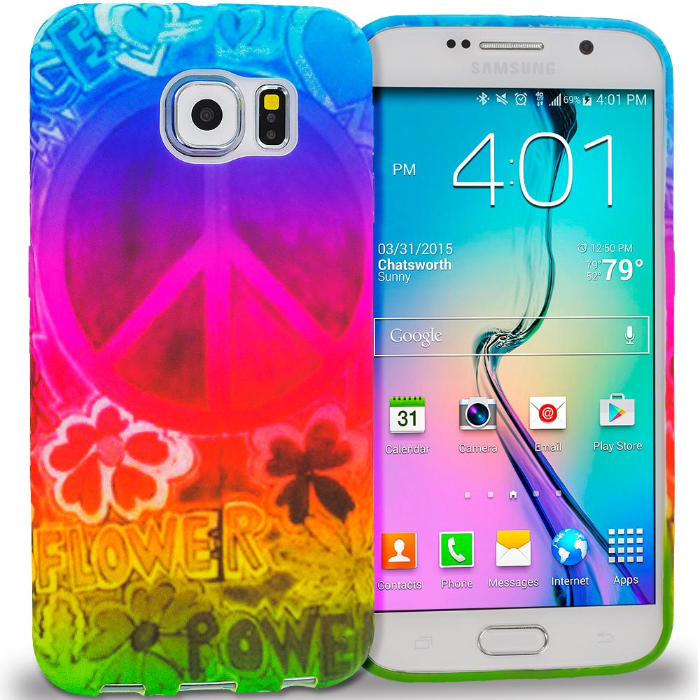 Samsung Galaxy S6 Flower Power TPU Design Soft Rubber Case Cover