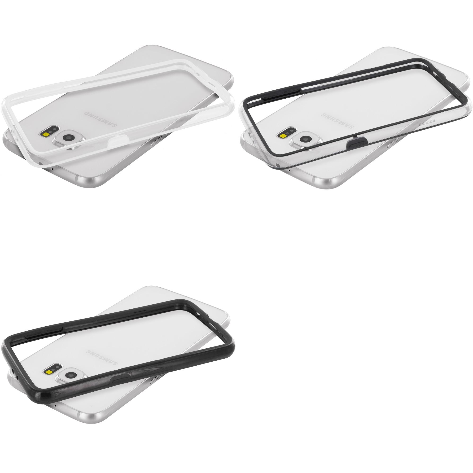 Samsung Galaxy S6 3 in 1 Combo Bundle Pack - TPU Bumper Frame Case Cover