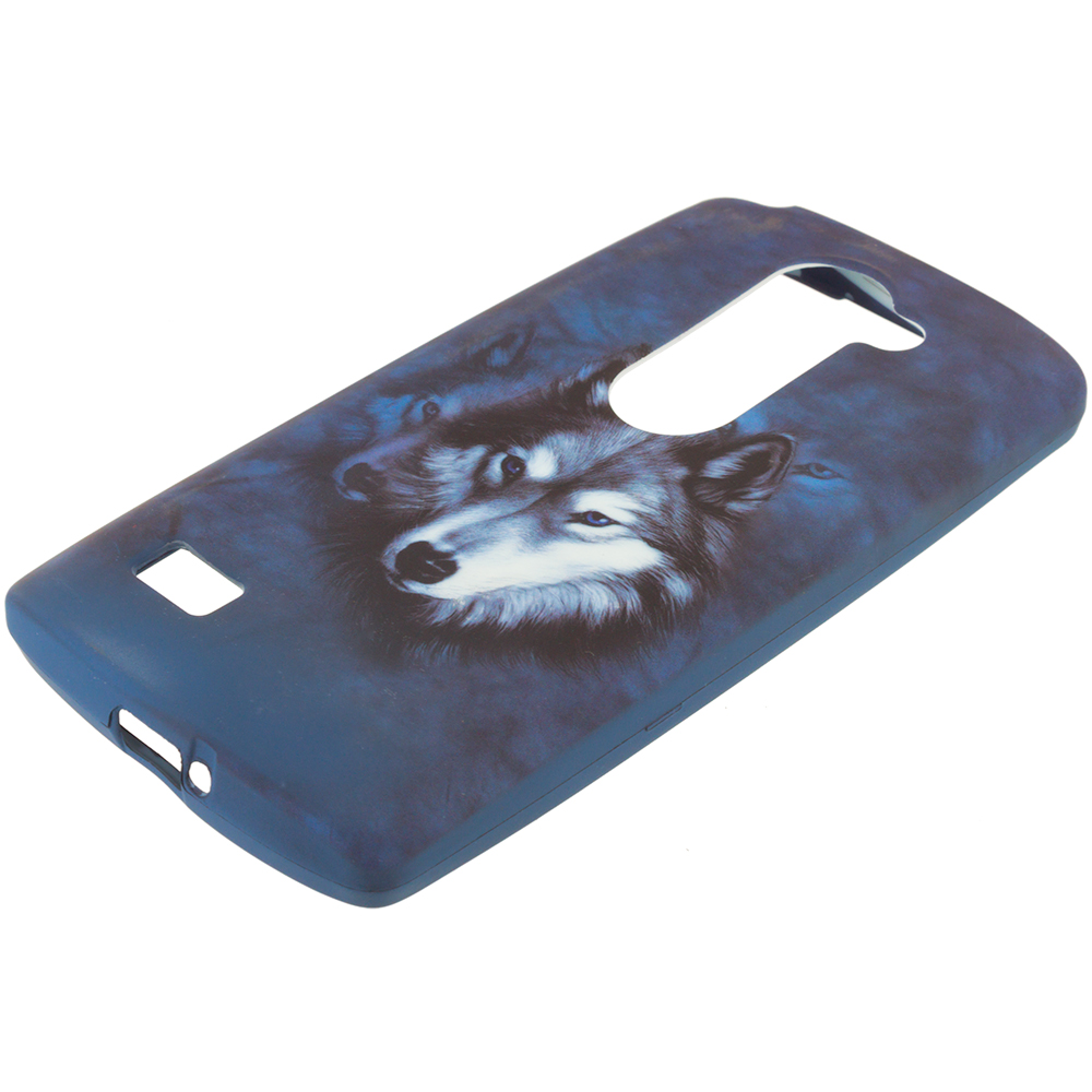LG Tribute 2 Leon Power Destiny Wolf TPU Design Soft Rubber Case Cover
