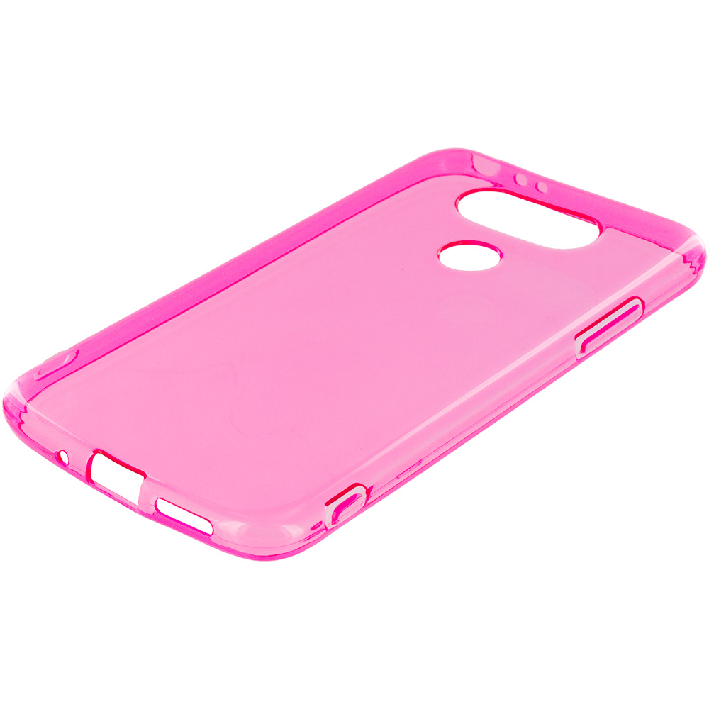 LG G5 Hot Pink TPU Rubber Skin Case Cover