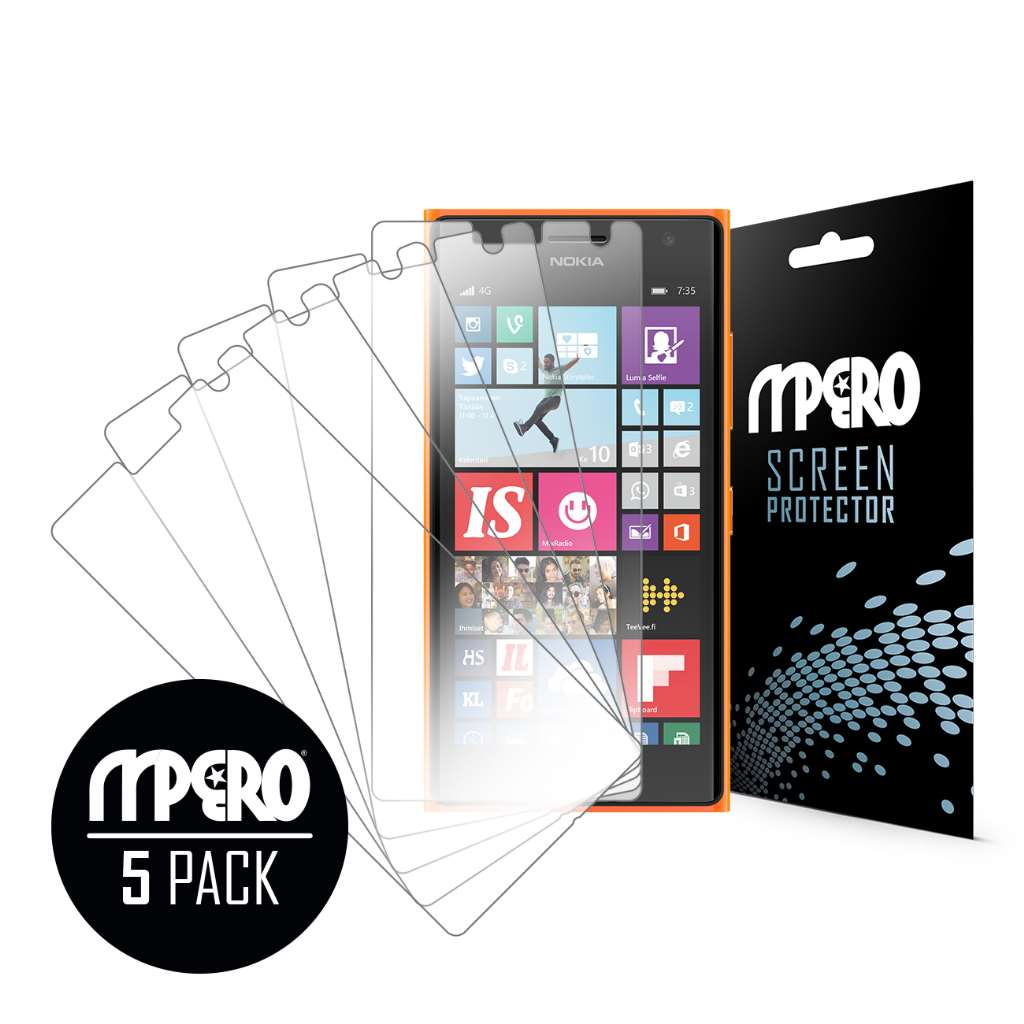 Nokia Lumia 735 MPERO 5 Pack of Ultra Clear Screen Protectors