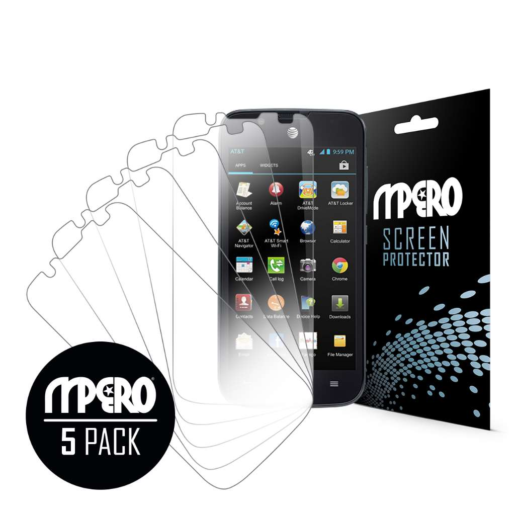 Huawei Tribute 4G LTE MPERO 5 Pack of Ultra Clear Screen Protectors