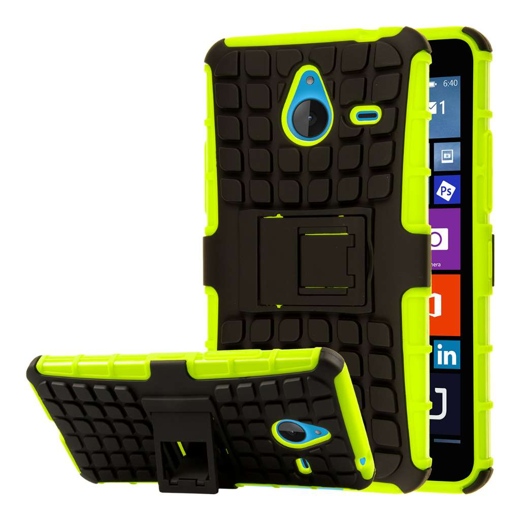 Microsoft Lumia 640 - Neon Green MPERO IMPACT SR - Kickstand Case Cover