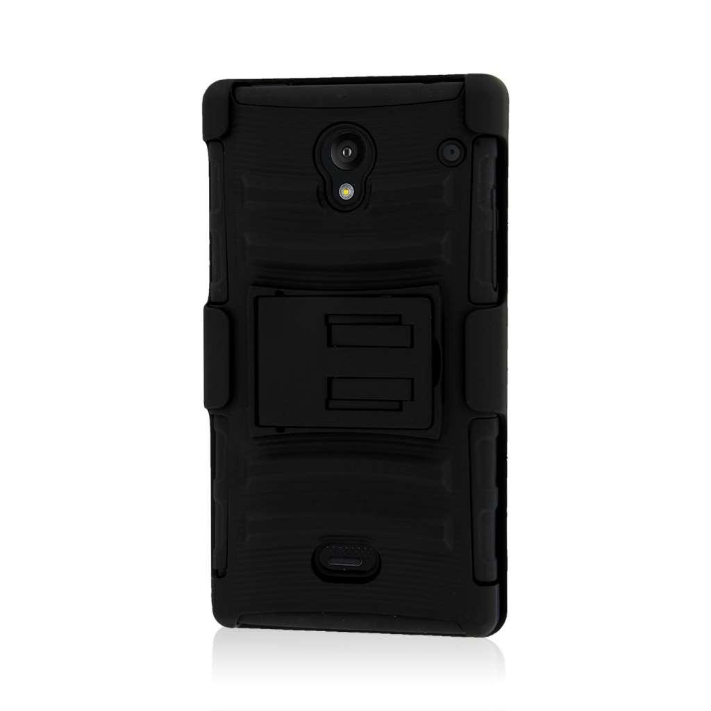Sharp AQUOS Crystal - Black MPERO IMPACT XT - Kickstand Case Cover