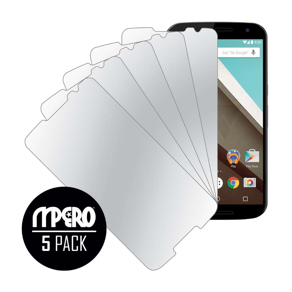 Google Nexus 6 Verizon MPERO 5 Pack of Mirror Screen Protectors