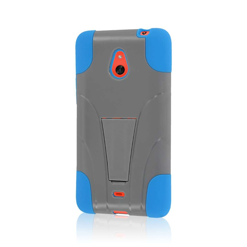 Nokia Lumia 1320 - Blue / Gray MPERO IMPACT X - Kickstand Case Cover