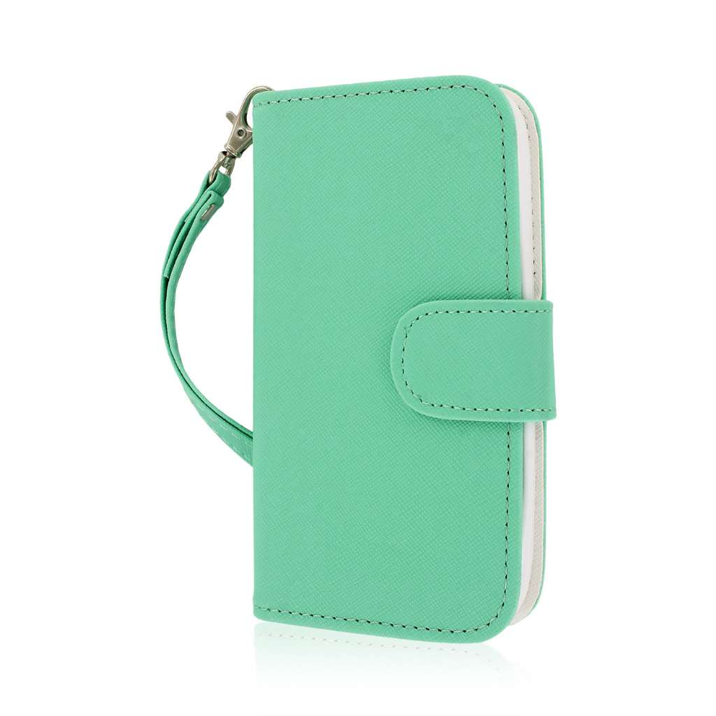 Kyocera Hydro Icon - Mint MPERO FLEX FLIP Wallet Case Cover