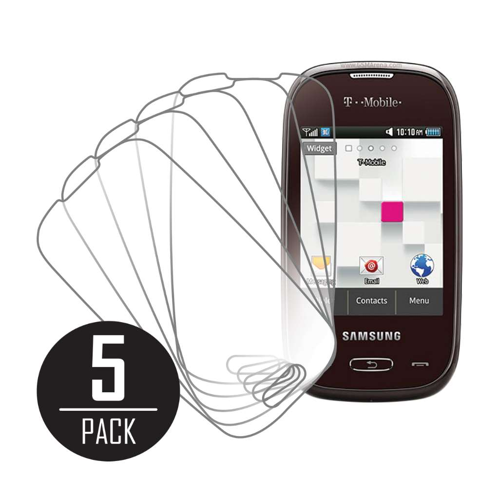 Samsung Gravity Q MPERO 5 Pack of Clear Screen Protectors