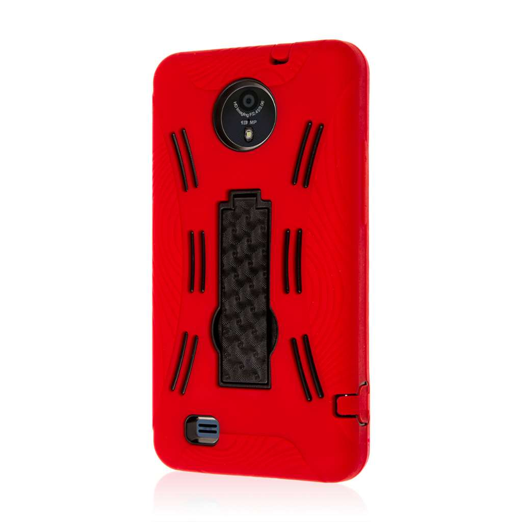 ZTE Vital - Red MPERO IMPACT XL - Kickstand Case Cover