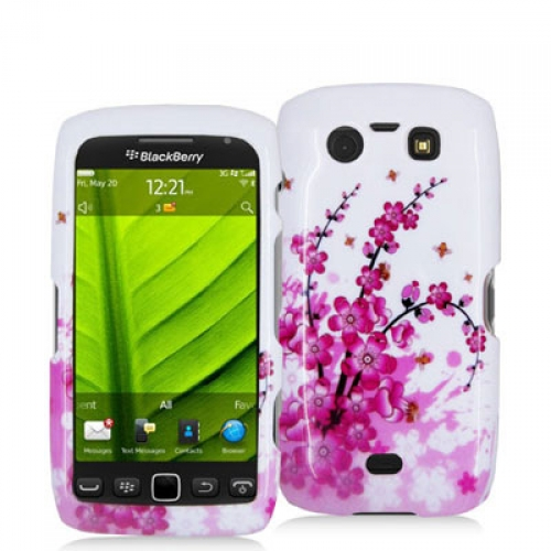 BlackBerry Torch 9850 9860 Spring Flower Design Crystal Hard Case Cover