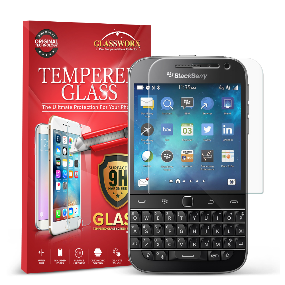 Blackberry Q20 GlassWorX HD Clear Tempered Glass Screen Protector