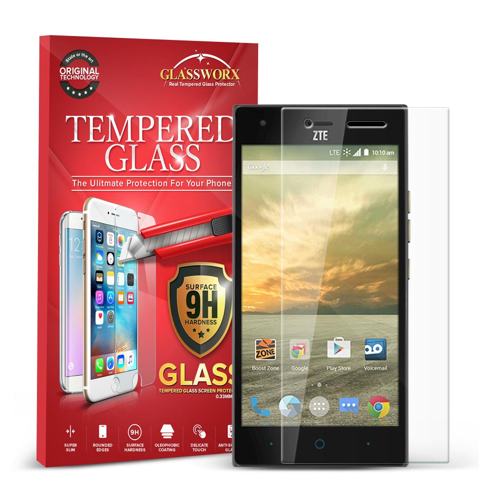 ZTE Warp Elite Clear GlassWorX HD Tempered Glass Screen Protector