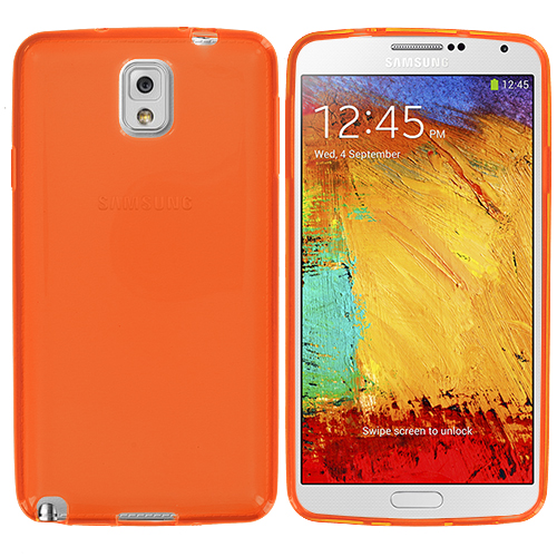 Samsung Galaxy Note 3 N9000 Orange TPU Rubber Skin Case Cover