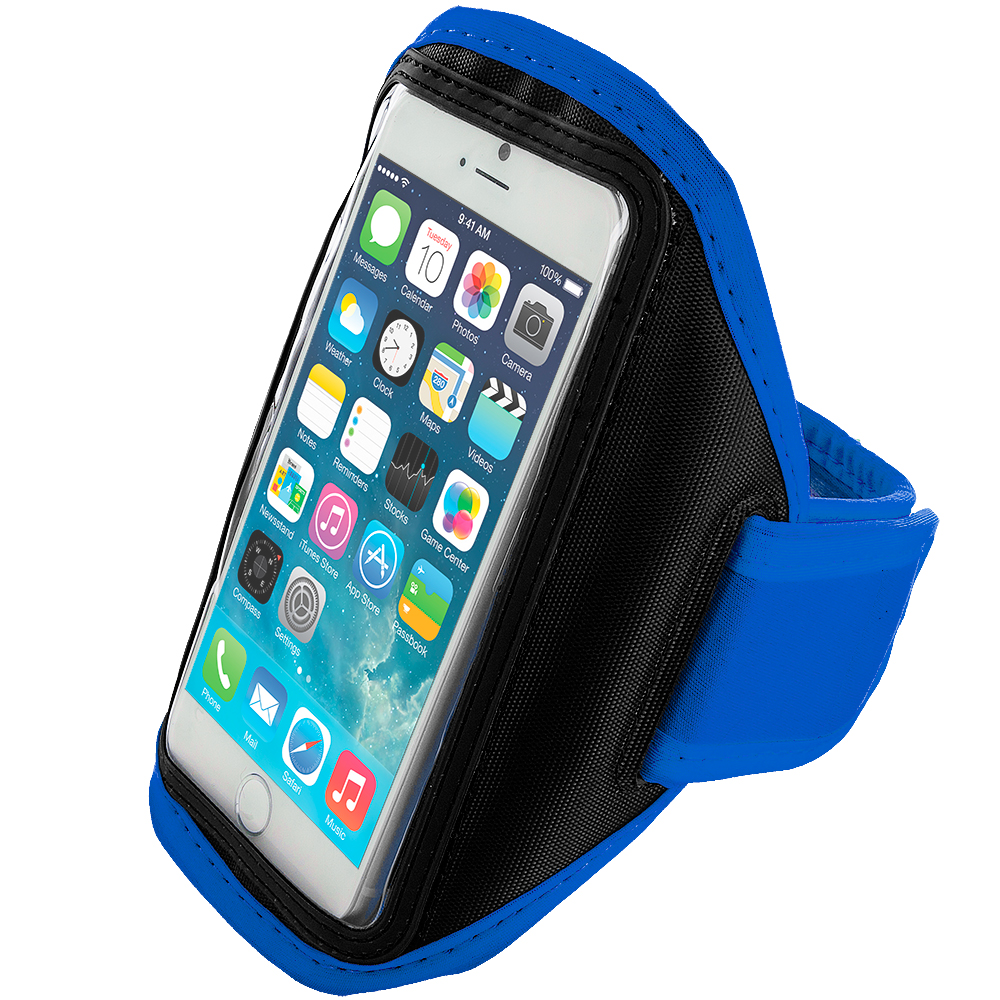 Apple iPhone 6 Plus 6S Plus (5.5) Blue Running Sports Gym Armband