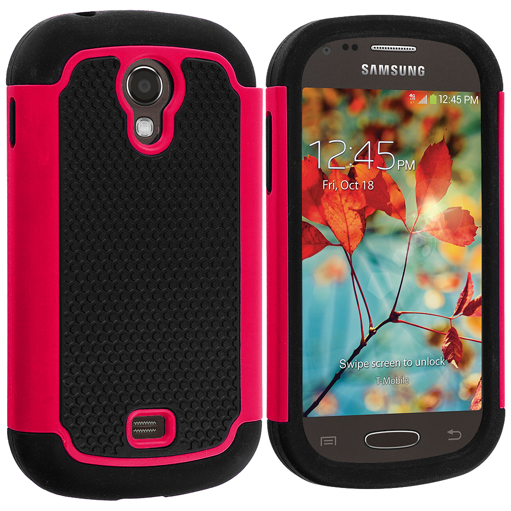 for samsung galaxy light t399 hybrid rugged shockproof armor hard case. Black Bedroom Furniture Sets. Home Design Ideas