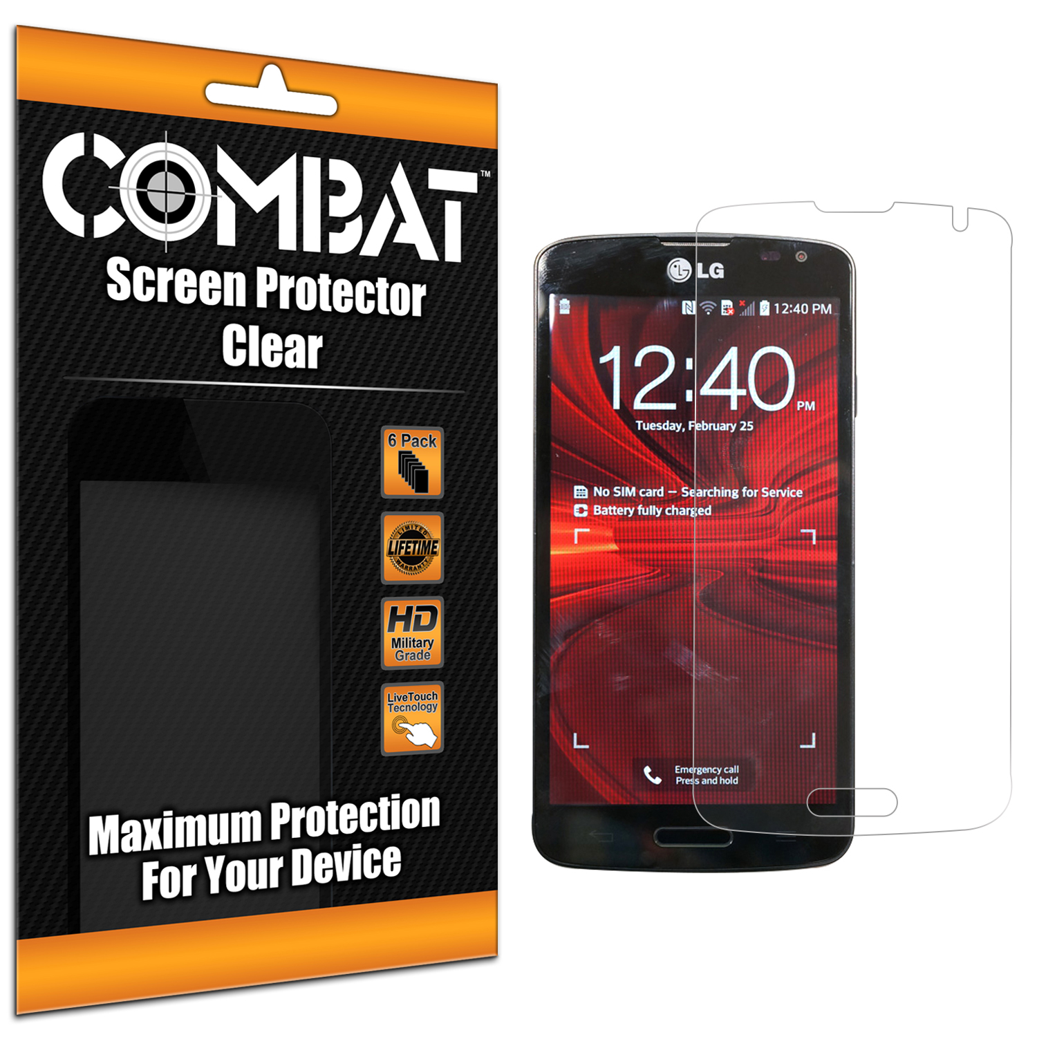 LG Volt LS740 Combat 6 Pack HD Clear Screen Protector