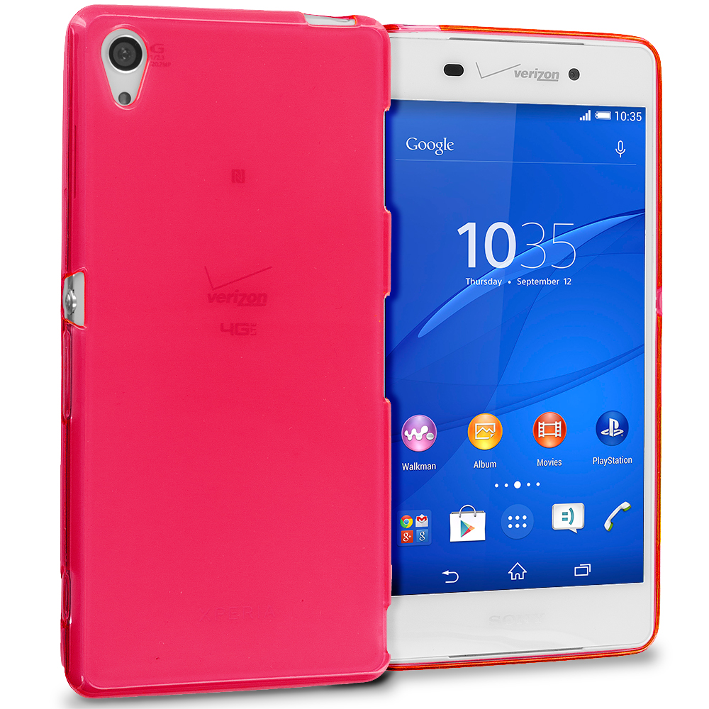 Sony Xperia Z3 Red TPU Rubber Skin Case Cover