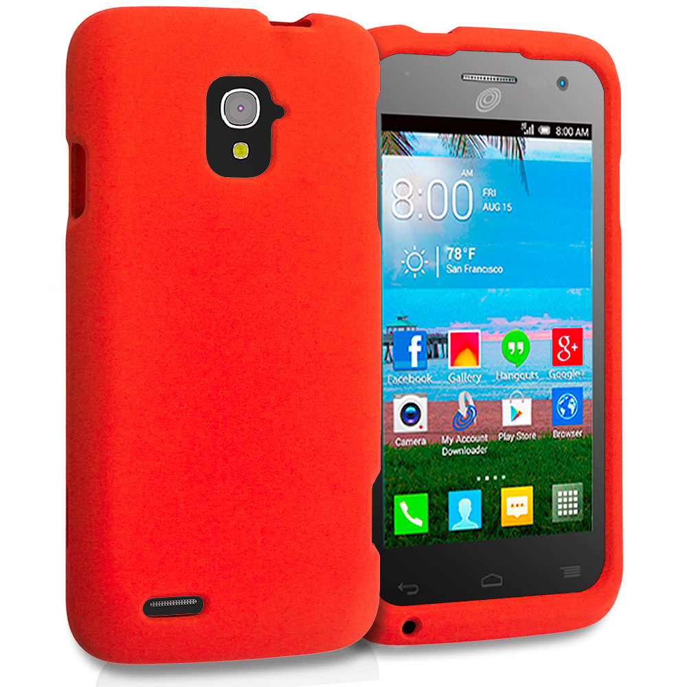 Alcatel One Touch Pop Star A845L Orange Hard Rubberized Case Cover