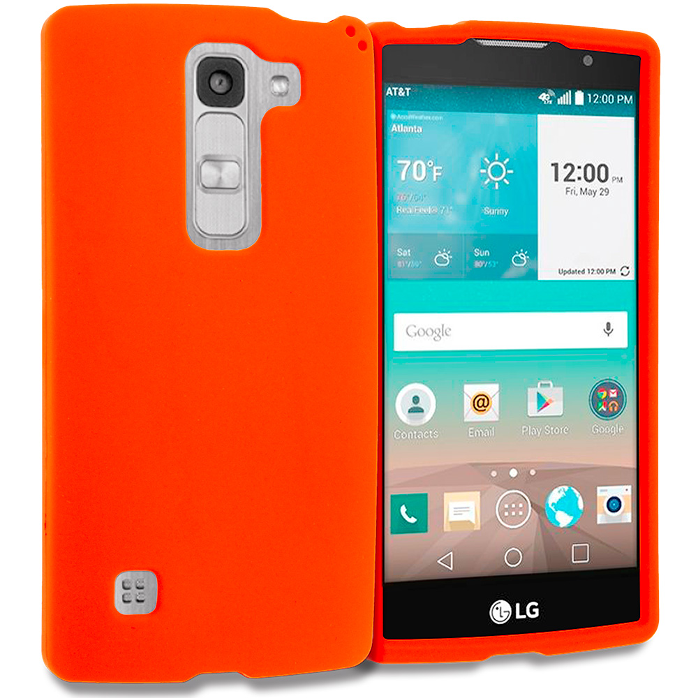 LG Escape 2 Logos Spirit LTE Orange Hard Rubberized Case Cover