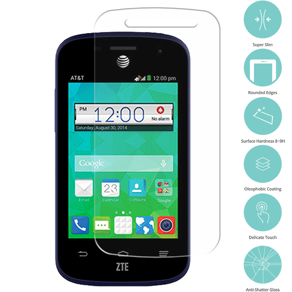 ZTE Zinger Prelude 2 Z667 Clear Tempered Glass Film Screen Protector Clear
