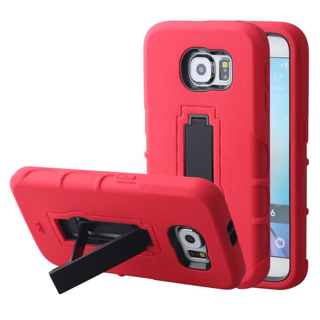 Samsung Galaxy S6 - Red MPERO IMPACT XS - Kickstand Case Cover