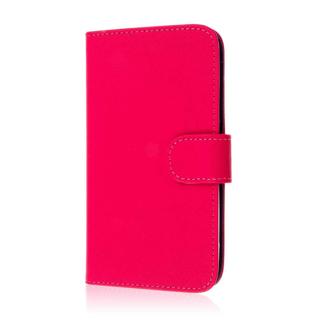 Google Nexus 6 - Hot Pink MPERO FLEX FLIP Wallet Case Cover
