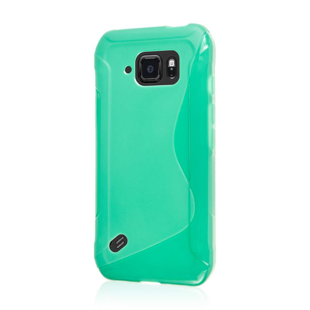 Samsung Galaxy S6 Active - Mint Green MPERO FLEX S - Protective Case Cover