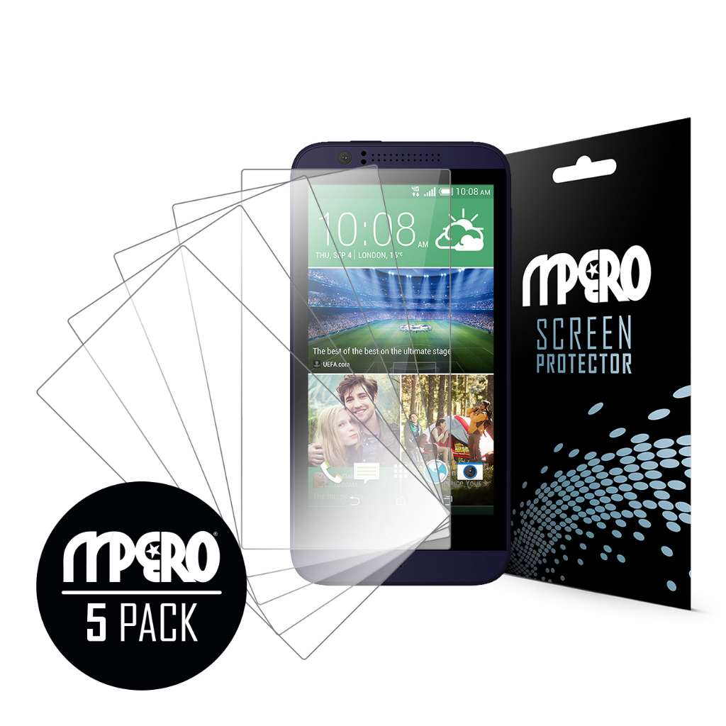 HTC Desire 510 512 MPERO 5 Pack of Ultra Clear Screen Protectors