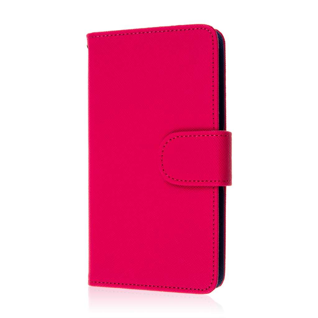 Microsoft Lumia 535 - Hot Pink MPERO FLEX FLIP Wallet Case Cover