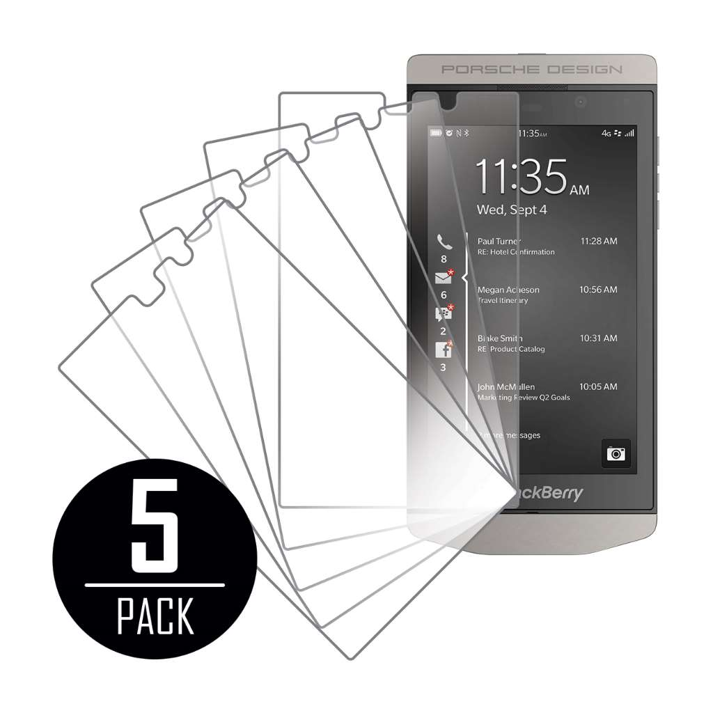 BlackBerry P'9982 MPERO 5 Pack of Clear Screen Protectors