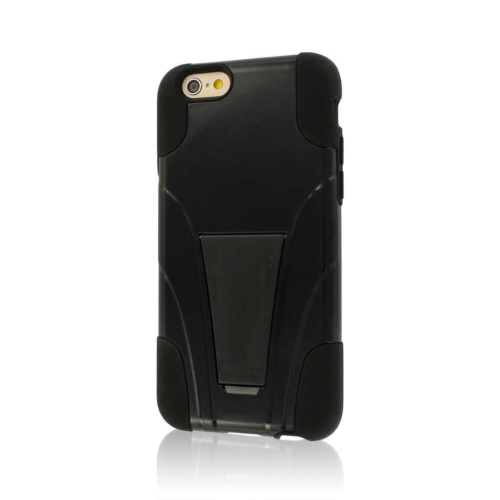 Apple iPhone 6/6S - Black MPERO IMPACT X - Kickstand Case Cover