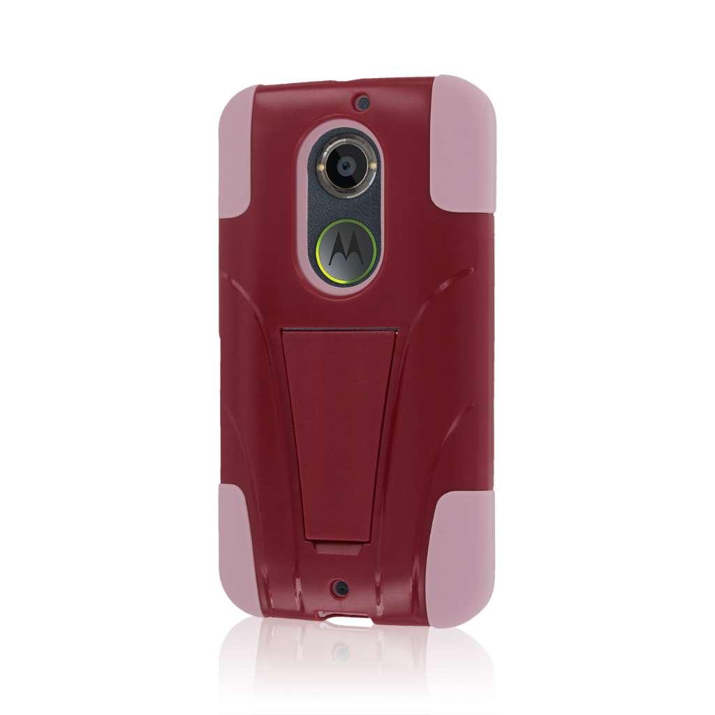 Motorola Moto X 2014 2nd Gen - Hot Pink / Pink MPERO IMPACT X - Stand Case