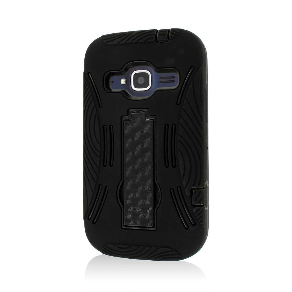 ZTE Concord 2 - Black MPERO IMPACT XL - Kickstand Case Cover