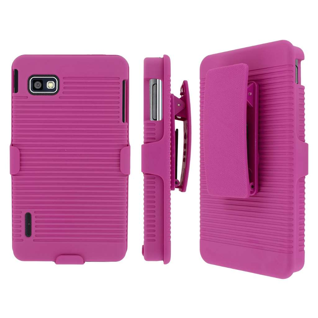 Sprint LG Optimus F3 MPERO 3 in 1 Tough Kickstand Case Cover