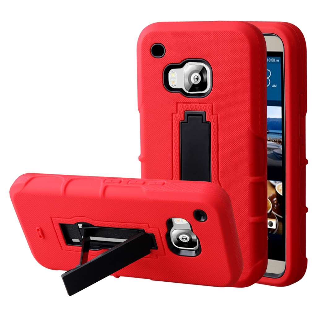 HTC One M9 - Red MPERO IMPACT XS - Kickstand Case Cover