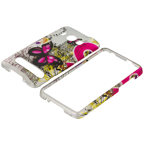 HTC EVO 4G Butterfly Flower Design Crystal Hard Case Cover