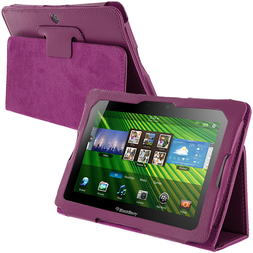 Blackberry Playbook Purple Folio Pouch Case Cover Stand