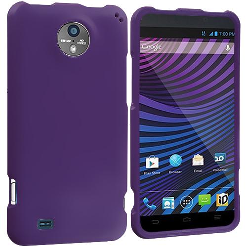 ZTE Vital N9810 Purple Hard Rubberized Case Cover